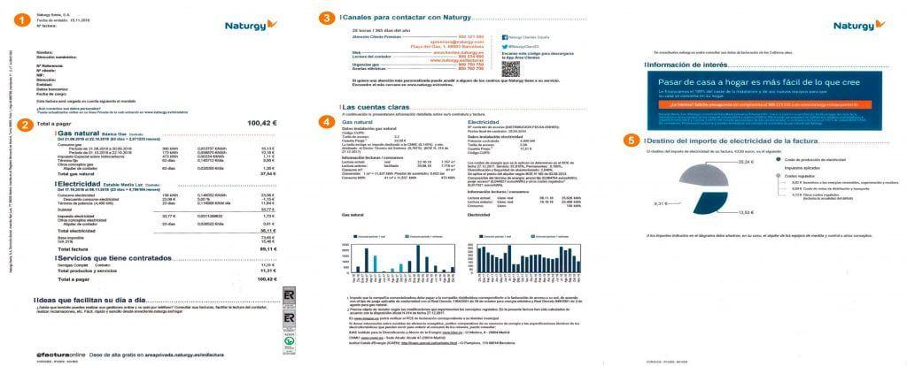 factura gas naturgy